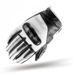 Shima Caliber rękawice motocyklowe skórzane męskie białe