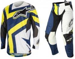 Alpinestars Techstar Factory spodnie motocyklowe 34 + bluza motocyklowa M - Komplet odzieży MX enduro Wyprzedaż Kolekcji!