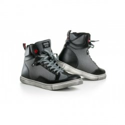 SHIMA SX-2 buty trampki motocyklowe skórzane krótkie czarno-szare