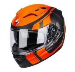 Scorpion Exo-1200 AIR STREAM TOUR kask motocyklowy czarny-pomarańczowy fluo mat
