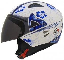 Shiro Kask motocyklowy otwarty SH-60 Pretty niebieski r. M Wyprzedaż !!!