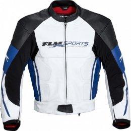 FLM PACE kurtka skórzana biało-niebieska