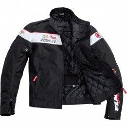 FLM SPORTS kurtka motocyklowa tekstylna krótka z logotypami r. L