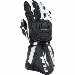 FLM GP 6 rękawice motocyklowe czarno-białe