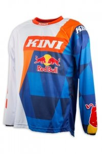 Koszulka MX cross Kini Red Bull Vintage 2017 pomarańczowo-niebie<br />ska