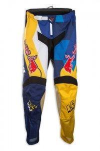 Kini Red Bull Vintage 2017 spodnie MX cross żółto-niebieskie