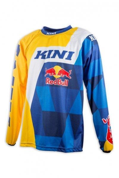 Koszulka MX cross Kini Red Bull Vintage 2017 żółto-niebieska