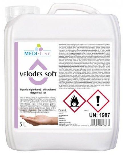 Velodes Soft (płyn do rąk) - 5l kanister