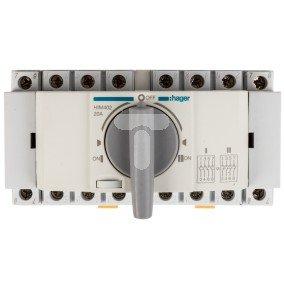 Przełącznik w układzie przełącznym I-0-II 4P 20A HIM402