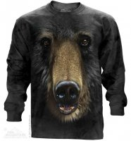 Black Bear Face - Long Sleeve The Mountain