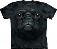 Black Pug Face Mops - Koszulka The Mountain