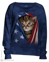 Patriotic Kitten - Bluzka Damska - The Mountain