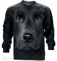 Black Lab Face - Long Sleeve The Mountain