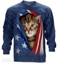 Patriotic Kitten - Long Sleeve The Mountain