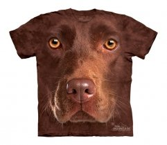 Chocolate Lab Face - The Mountain - Koszulka Dziecięca