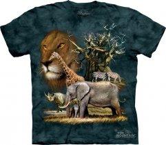 African Collage Koszulka The Mountain