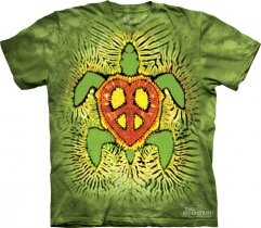 Tie Dye Rasta Peace Turtle - The Mountain
