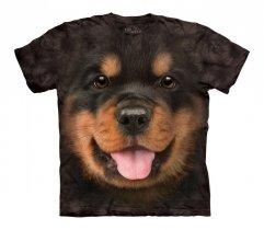 Big Face Rottweiler Puppy - The Mountain - Koszulka Dziecięca