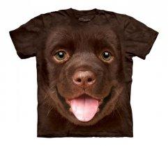 Big Face Chocolate Lab Puppy - The Mountain - Koszulka Dziecięca
