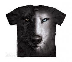 Black & White Wolf Face - The Mountain - Junior