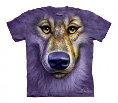Friendly Wolf Face - The Mountain - Koszulka Dziecięca