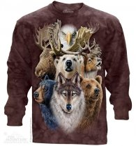 Northern Wildlife Collage - Long Sleeve The Mountain