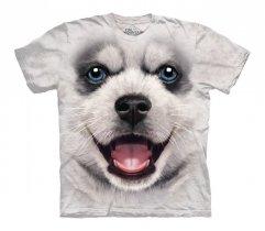 Big Face Siberian Husky Puppy - The Mountain - Koszulka Dziecięca