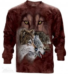 Find 9 Wolves - Long Sleeve The Mountain