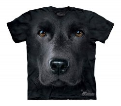 Black Lab Face - The Mountain - Koszulka Dziecięca