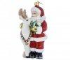 Weihnachtsmann 15 cm - Mit Rentier