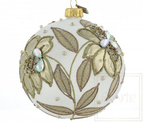Christbaumkugel 10cm – Goldene Blume
