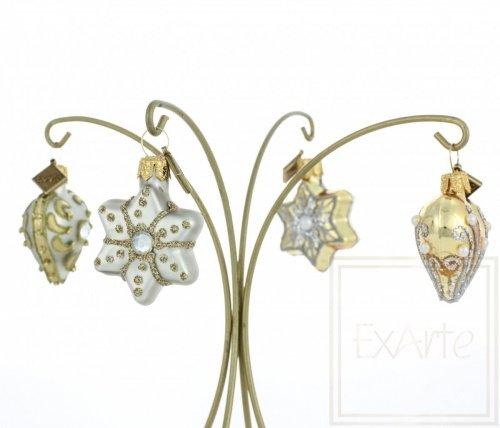 Sternchen und Herzchen 3cm, 4 Stück - Goldschimmernd