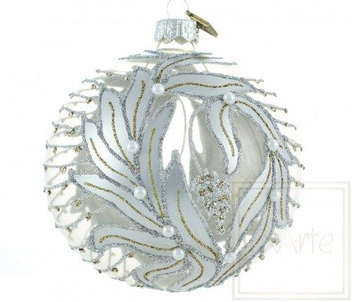 Christbaumkugel 10cm  - Silberne Dämmerung