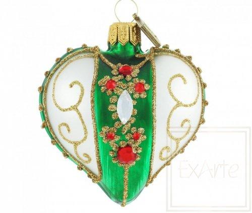 Herz 5cm – Kollier auf Grün