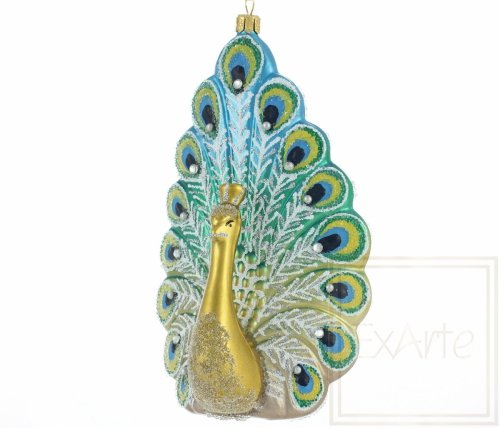 Paw turkusowy - 18cm