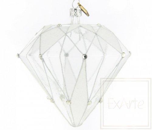Diament 10cm - Kryształowy