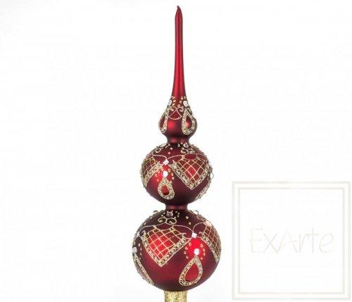 Czub / szpic 42cm - Diamenty na czerwieni