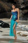 Kostium kąpielowy Marko Estera Blueberry-Oltemare M-322 granatowy niebieskie kwiaty (147)