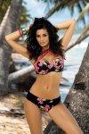 Kostium kąpielowy Marko Britney Nero-Petunia M-274 Czarno-malinowy (208)
