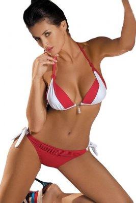 Kostium kąpielowy Marko Amber Rosso Passione-Bianco M-260 Czerwono-biały (46)