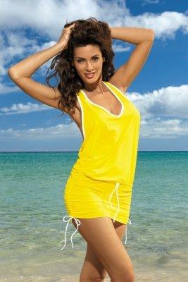 Sukienka plażowa Marko Elsa Limon M-313 Żółta (287)