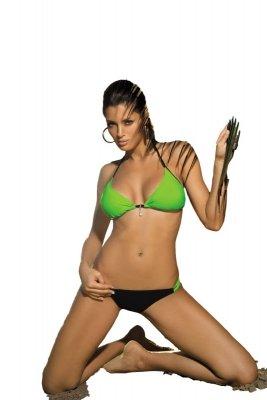Kostium kąpielowy Marko Erica Smile-Nero M-262 Zielono-czarny (30)