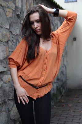 Vittoria Ventini Giulia pomarańczowa bluzka damska