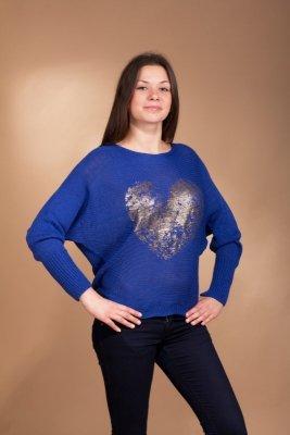 Vittoria Ventini Love szafirowy sweter