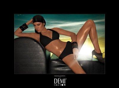 Demi saison Lady Madonna czarna Kostium kąpielowy