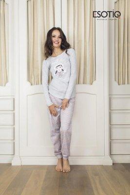 Esotiq Dolly 1 (33515-09X) (33519-09X) Jasno szara piżama damska