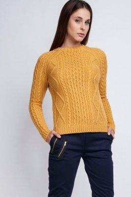 MKM Candice SWE 042 żółty Sweter