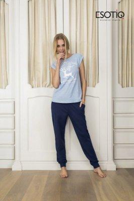 Esotiq Dakar 33584-55X niebieska piżama damska