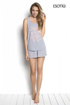 Esotiq Sailor 34220-90X, 34222-90X Szary Melanż piżama damska
