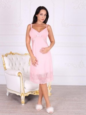 Roksana Anabelle 331 Light Pink (Jasnoróżowa) koszula nocna